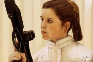 Princess Leia by RedSaucers
