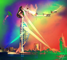 King Kong on Spinnaker Tower by RedSaucers