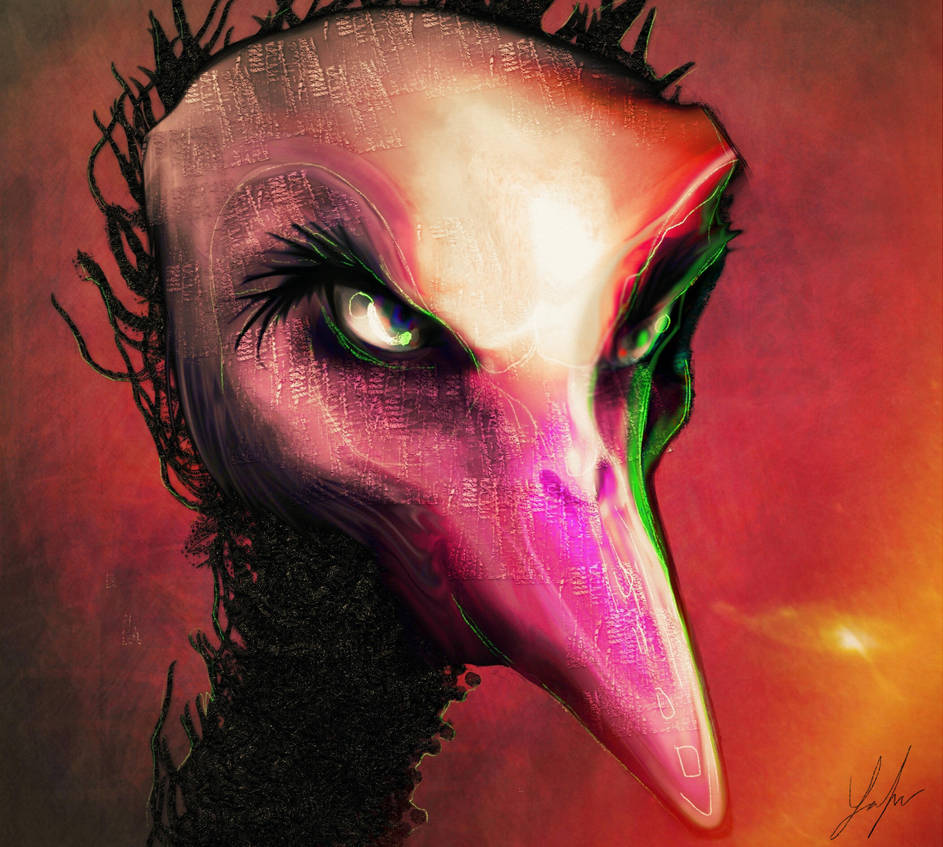 Evil Ostrich by RedSaucers