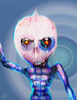 Alien Skull Face by RedSaucers