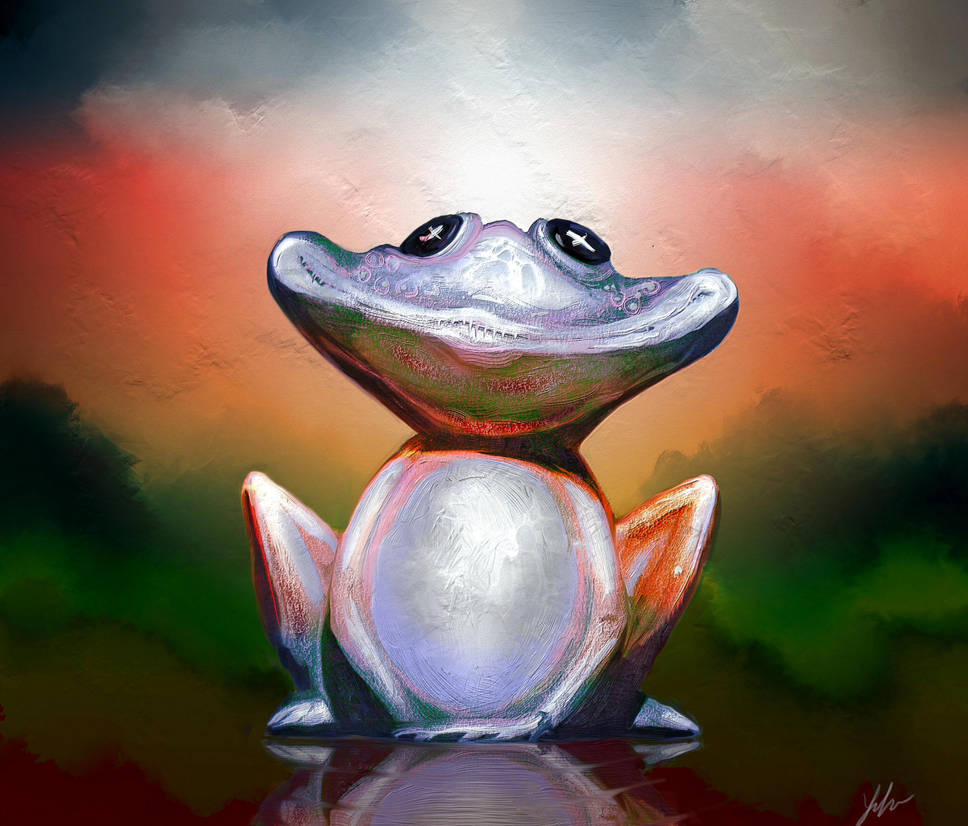 Happy Frog by RedSaucers