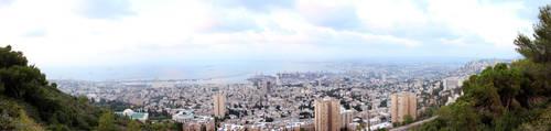 Panorama of Haifa by sad-roses