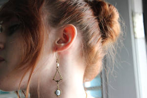 Blue Cameo Earrings Vampire Diaries inspired by artistiquejewelry