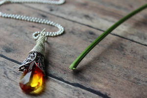 Southwest Sunset Teardrop Swarovski Necklace by artistiquejewelry