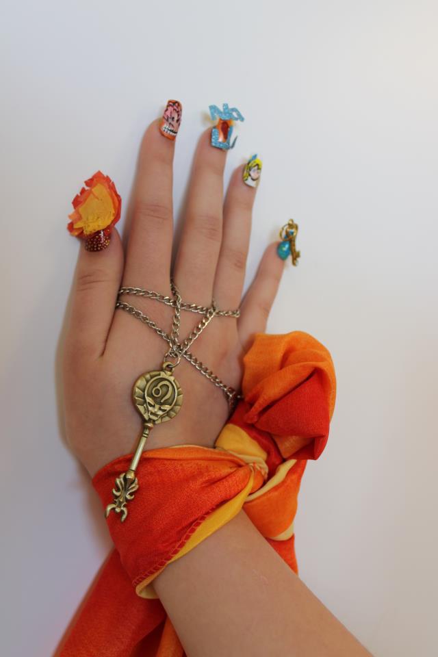 Fairy Tail Nalu Nail Art By Kingdomheartsemily
