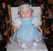 Blue Doll Dress by Crochet-by-Clarissa