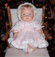 Pink doll dress by Crochet-by-Clarissa