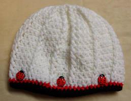 Ladybug hat by Crochet-by-Clarissa