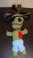 Zombie Voodoo doll by Crochet-by-Clarissa