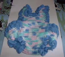 Lil' Blue Romper by Crochet-by-Clarissa