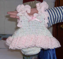 Lil Pink Romper by Crochet-by-Clarissa