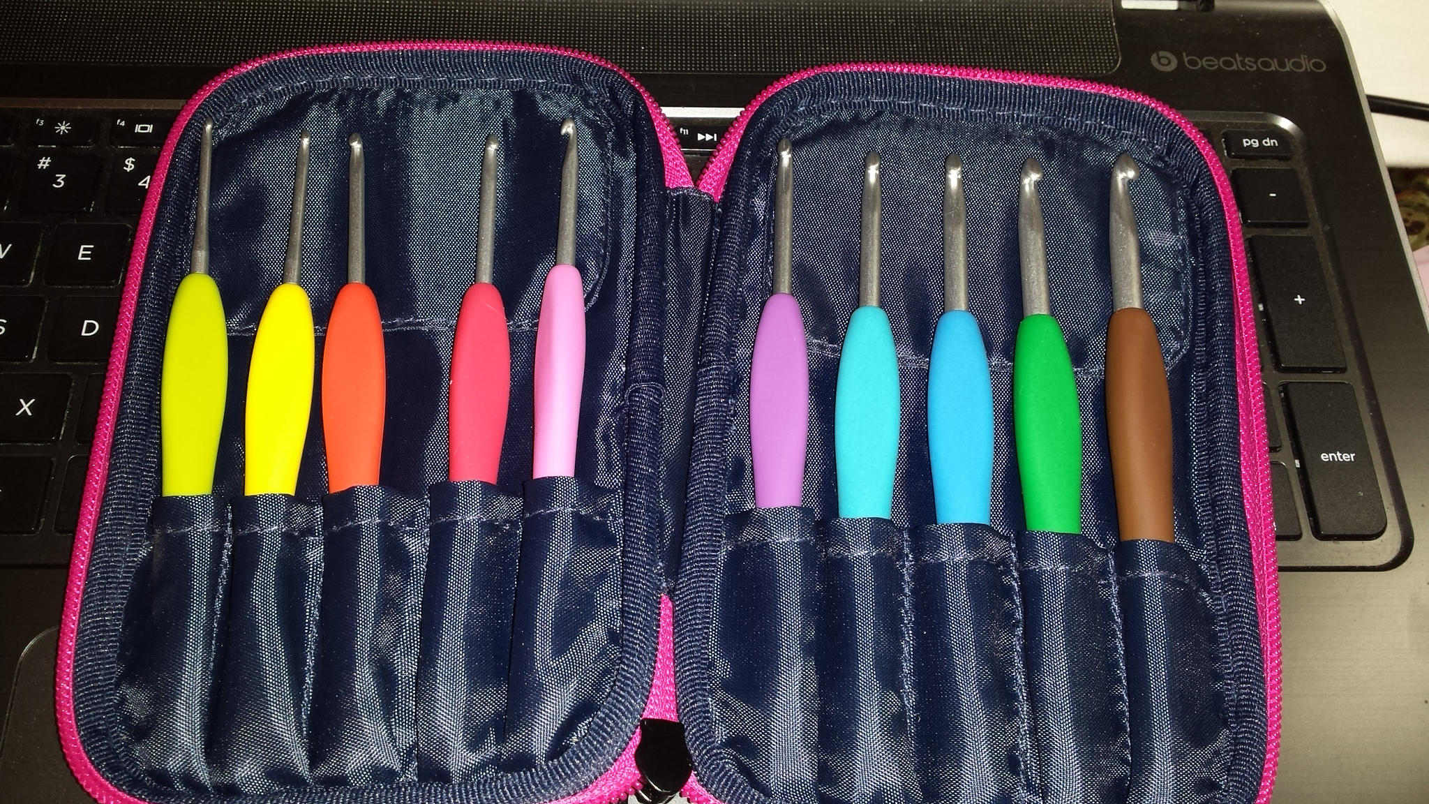 My New Clover Amour Crochet Hooks by Crochet-by-Clarissa