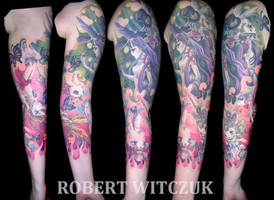 My finished 3/4 sleeve by Dahlia-Dubh
