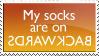 Socks are backwards by KorineForever