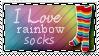 I Love Rainbow Socks by KorineForever