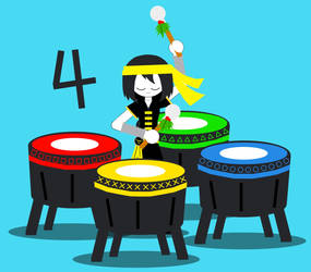 12 Gifts For Christmas: Four Chinese Drums by jfpfart