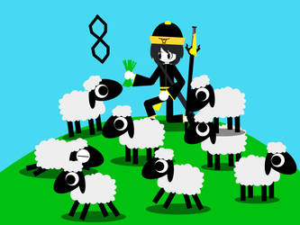 12 Gifts For Christmas: Eight Shepherds Sheep by jfpfart