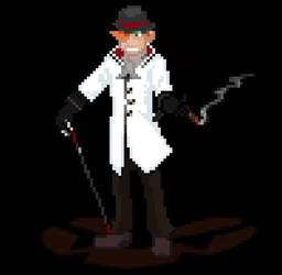 Roman Torchwick Battle Sprite by MikesConcepts