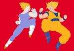Goku and Vegeta by Zanny-Marie