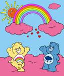 Rainbow and Grumpy Bear by Zanny-Marie