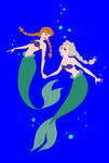 Anna And Elsa As Ariel I by Zanny-Marie