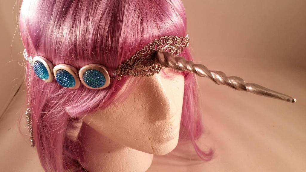 Unicorn Horn Head Jewelry by ami-nomiko