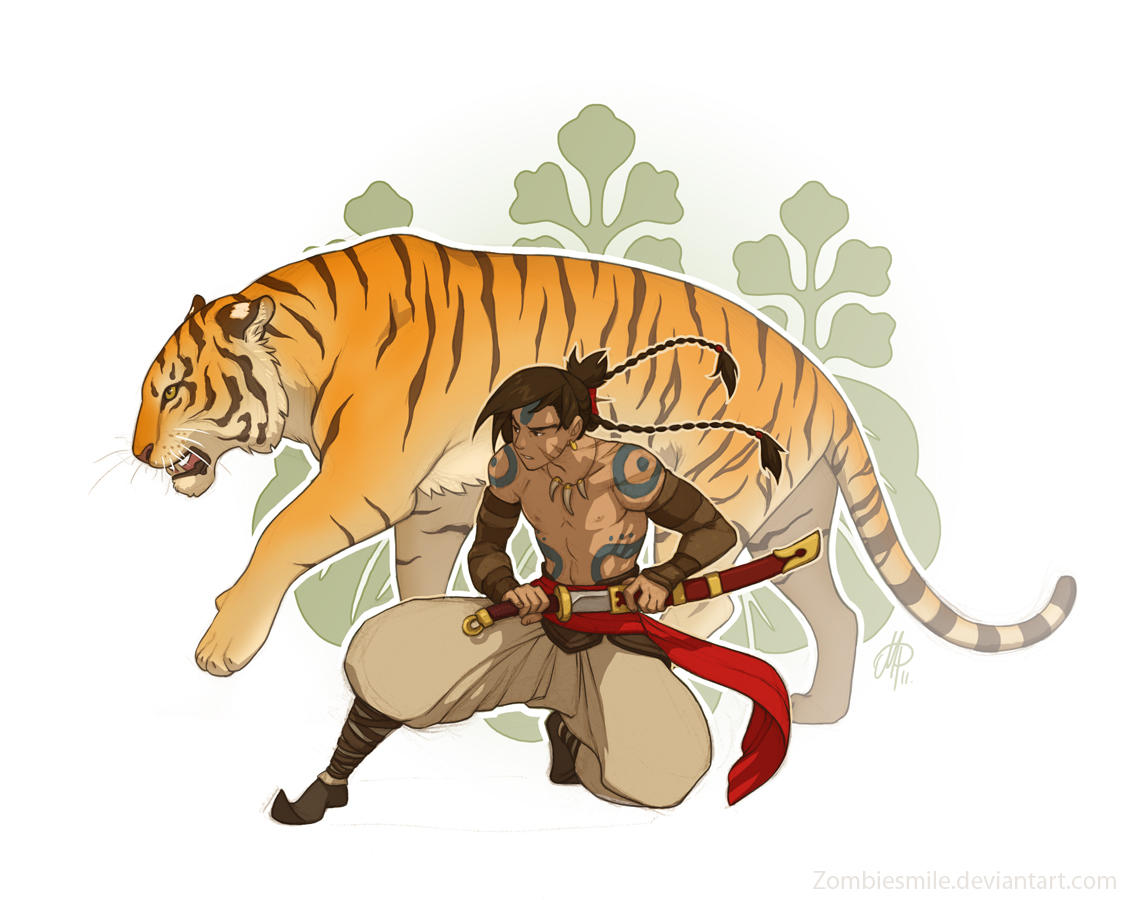 Tiger Warrior by Zombiesmile