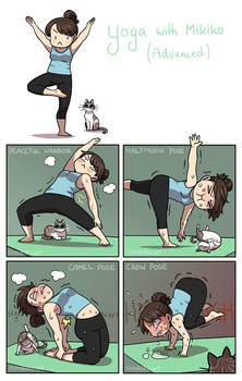 Yoga with Mikiko II by Zombiesmile
