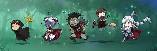The Silver Seekers - chibis by Zombiesmile