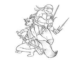Raph and Ninjara by mallettepagan0