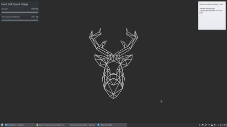 Nice and Clean Kubuntu 18.10 by MegaManZeroFan