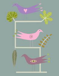 Ladder Birds by TootieFalootie