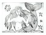 Craster Mermaid Etching by TootieFalootie