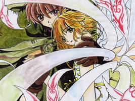 Shaoran y Sakura by AogiryMiwako