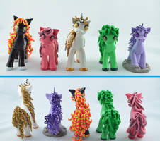 little ponies :) by claymeeples