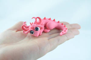 little pink baby dragon by claymeeples