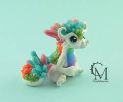 Opal crystal dragon by claymeeples