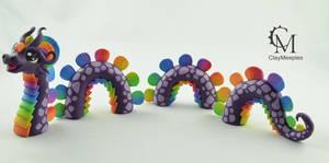 Purple Rainbow Water Dragon by claymeeples