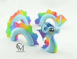 Blue Rainbow Water Dragon by claymeeples