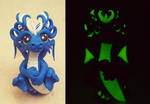 Blue Dragon - Glow In The Dark by claymeeples