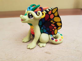 green rainbow butterfly dragon by claymeeples