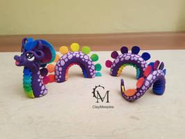 purple water dragon by claymeeples