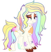 (AUCTION) Rainbow Splatter Pony CLOSED by LexiPika-Adopts