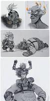 junkrat and roadhog by Kessavel-art