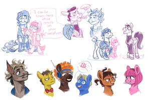 Pony Town doodles by Kessavel-art