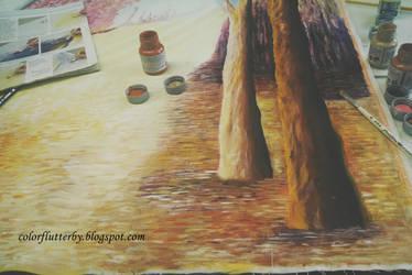 Colorful landscape progress by YamilyAlbrecht