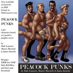 PEACOCK PUNKS -- a new gay graphic novel ebook by DaleLaz