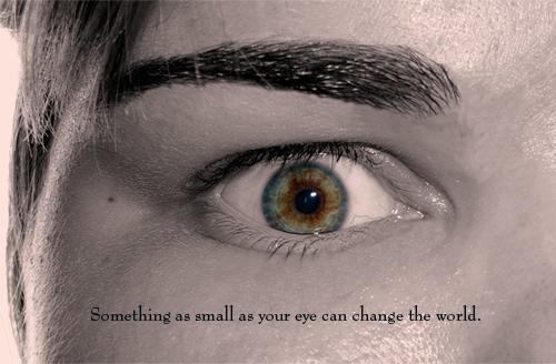 Multicolored Eye by kleinerewoelfin