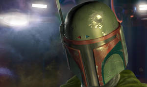 Boba Fett Helmet 3d Model Final Render by Entar0178