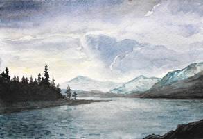 Watercolor Landscape Practice by Entar0178
